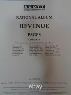 New Revenue Scott Specialty Album collection pages used 2 post binder dust case