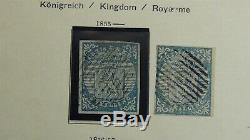 Norway stamp collection in Schaubek album to'65 with 650 or so classic stamps