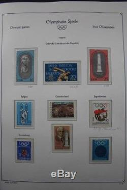 OLYMPIC Games 1972 MNH Sports Topical Luxus Stamp Collection 3 Albums with Gold