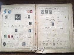 ORIGINAL RUSSIAN IMPERIAL STAMP ALBUM FOR WORLD STAMPS (58 stamps inside)