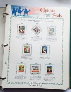 Old 1914-2006 CHRISTMAS SEAL COLLECTION IN ALBUM 23 Blocks 39 Sheets 172 Singles