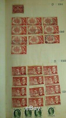 Old Stamp Collection Album Pre Decimal Australian & Overseas Antique