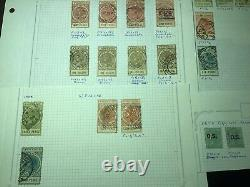 Old States Collection Colonial Estate Album Pages, Some Mint
