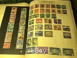 Old Universal Spring Back Stamp Album Collection 70+ Years Old
