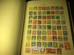 Old World Stamp Album, Childs Collection Many Decades Ago