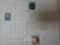 Older Scott US National Stamp collection album with Revenue pages 1847-1977