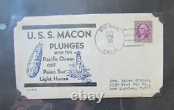 Original ZEPPELIN Collection! 1930s Album with RARE Postal History USS Macon Akron