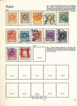 POLAND 1918/2000 Four Album M&U Collection(Appx 2500 Stamps)ALB268