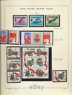 POLAND 1969/84 Schaubek Album MNH Used Collection(Appx 800+)GM51