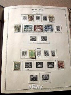 POLAND Stamp Album Collection MINKUS 1919 1969 630 Hinged Mint & Used REDUCED