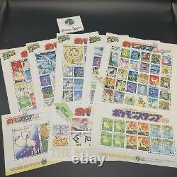 Pokemon Shogakukan Stamp Collection Album Part 5 Johto Ho-oh lugia + Stamps