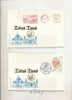 Poland Pope John Paul Religion Covers Cards Stamp Collection in AlbumALB744