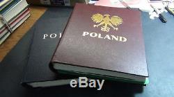 Poland stamp collection in 2 vol Minkus albums to 90