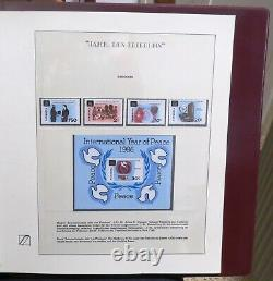 Pope John Paul II Collection Of Stamps In Dual Safe Album 56 Pages