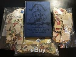 Postage Stamps of World Album 3 bags Huge Stamp Collection 30s-40s