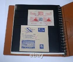 ROCKET MAIL Album Collection Gerhard ZUCKER Vignette Sheets Signed GERMANY