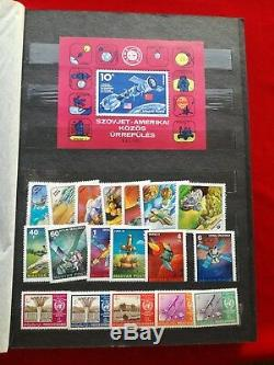 Rare Space Stamp Album Book Collection Vtg Soviet Russian Gagarin Rocket Sputnik