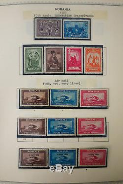 Romania Mostly Mint Stamp Collection 1919-40s in Minkus Album