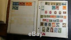 Romania Stamp collection on blank album pages with 2k or so to'79