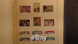 Romania stamp collection in Scott Int'l album with 1,400 or so stamps'80