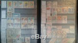 Romanian stamp lot collection 700+ Romania stamps in Lighthouse Album