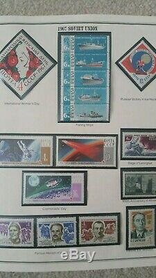 Russia 1967 1972 years Collection in Mystic album MNH