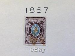 Russia Exceptional Mh Stamps Collection Huge CV In A Unique Hand Painted Albums