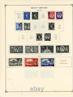 SCOTT INTERNATIONAL ALBUM PART III-with 887 stamps (Collection Remaiders)