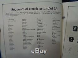 SCOTT International 8 Volume Stamp Album collection 1840-1955 Parts 1-3 I-III