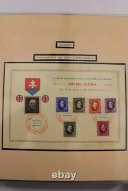 SLOVAKIA WWII 1935-1945 2 Albums Exhibition Premium with Signed Stamp Collection