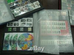 STAMP COLLECTION 1987-2006 COMMEMORATIVE DEFIN MINIATURE SHEETS FV£1629 3 albums