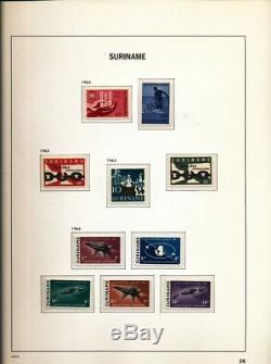 SURINAME 1873/1975 Davo Hingeless Album Mint Collection(200)ALB527