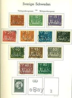 SWEDEN COLLECTION 1858-1980, 2 volume Lighthouse Albums Mint & Used Scott $4064