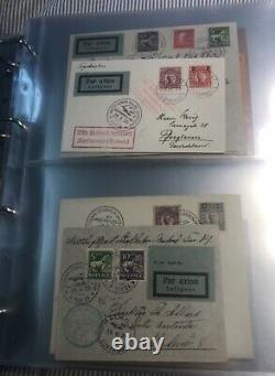 SWEDEN Collection airmail 1929-45 on 95 covers/cards in album. Good lot