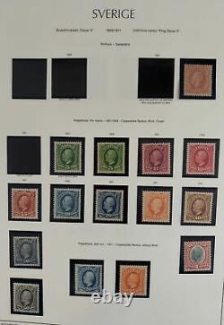 SWEDEN MINT Outstanding 1855-1990 collection, 2 albums, Scott/Facit $24,752.00