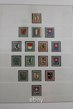 SWITZERLAND CH Swiss MNH (1916) 1936-1959 Lindner Album Stamp Collection
