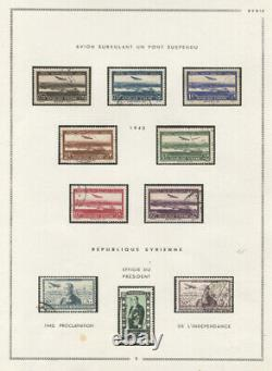 SYRIA AIR POST 1920-45 USED AIR POST COLLECTION ON MOC ALBUM PAGES virtually com