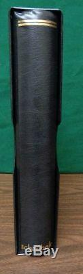 Schaubek Senator Hingeless Stamp album collection 6 ring binder & slipcase black