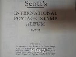 Scott International 6 Volume Album Collection w 7,000+ stamps Part 1-6 1840-1968