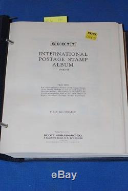 Scott International Blue Stamp Collection Album Volume 6 six 1965 1966 nice