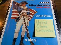 Scott Minuteman Stamp Album Collection Must See! Estate Sale Find! 180+ Pics