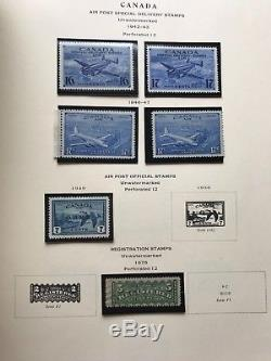 Scott National Album Canada Stamp Collection CV$2000, Postal Value $250