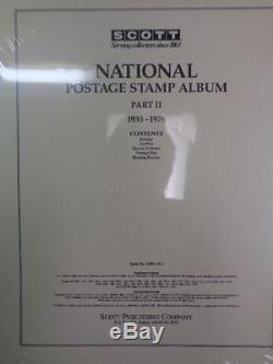 Scott US National Stamp album collection pages supplement 1935-1976 pt 2 100NTL2