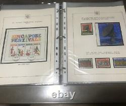 Singapore 1948-1990 Full Collection Stamps and MS used/mint Printed Album Sheets