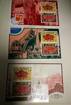 Singapore 1985-2000 almost complete mint collection stamps in Lecuchturm album