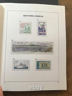 St Pierre Et Miquelon Collection En Album Davo Luxe + Étui 1986/2009 Cote 2300