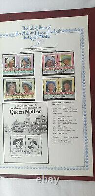 Stamp Album Collection Life and Times of Queen Mother