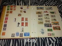 Stamp Collection From Across The World 280 Stamps In Album
