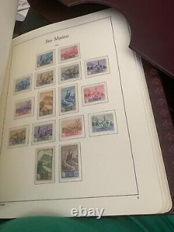 Stamp Collection San Marino In Lighthouse Album1877 To 1961