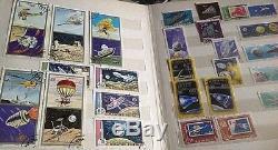 Stamp Collection Stamp album Space Moon Apollo Spacecraft Bulk x 268 space